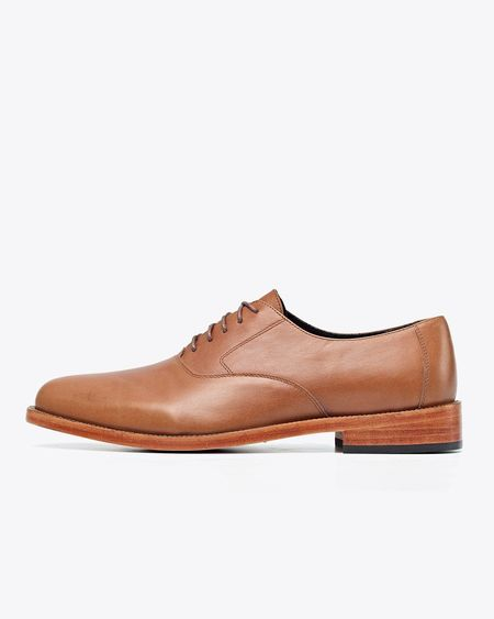 Nisolo Calano Oxford Shoes - Saddle Brown