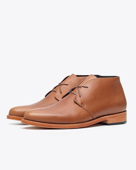 Nisolo Luca Chukka Boot Saddle - Brown