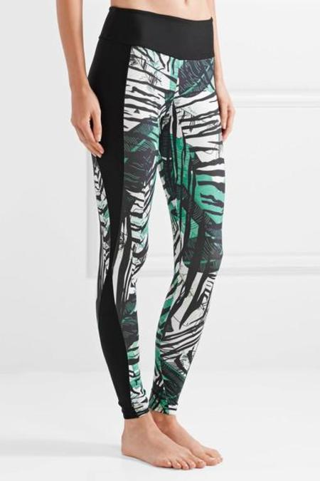 BODYISM  I Am Exotic Printed Stretch Leggings