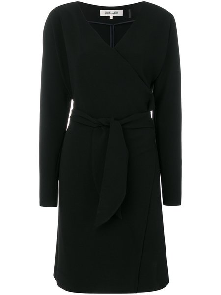 Diane Von Furstenberg Draped Wrap Dress - Black
