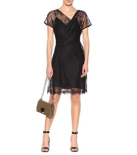 Diane Von Furstenberg Lace Dress - Black