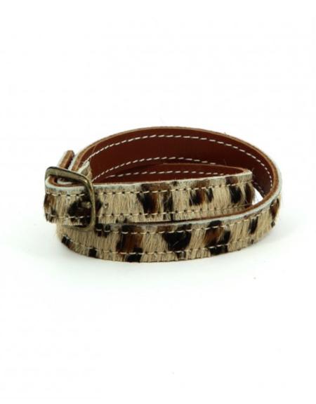 K JACQUES ST TROPEZ Naja Bracelet - Leopard