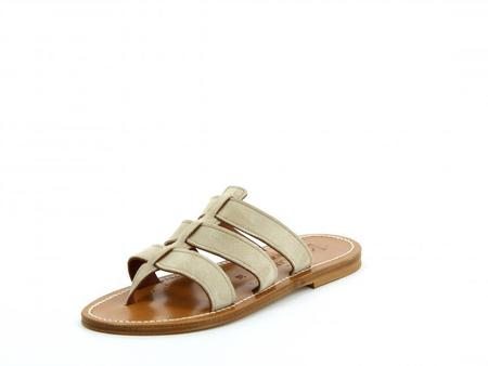K JACQUES ST TROPEZ Dolon sandal - Cuir Velours