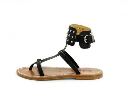 K JACQUES ST TROPEZ Flibuste sandal - black