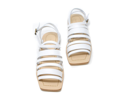 Mari Guidicelli Costa Sandal - White