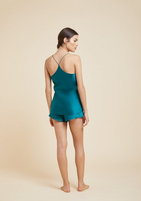 Olivia Von Halle Bella Silk Camisole Set - Jade
