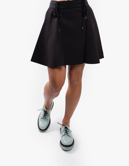 Carven Lace-up Flare Skirt - Black