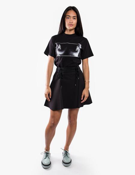 Carven Lace-up Flare Skirt - Black