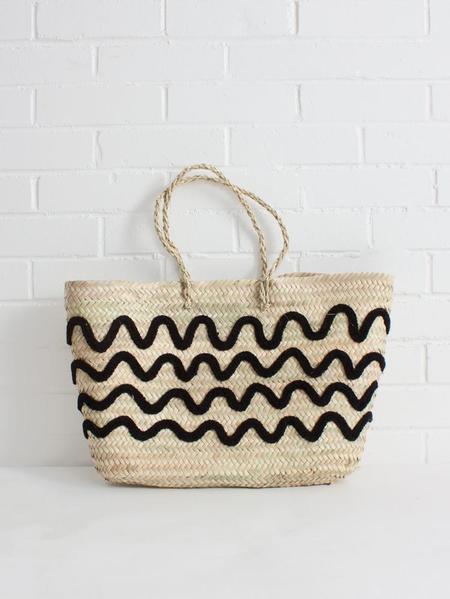 Bohemia Wave Tote Basket - Natural