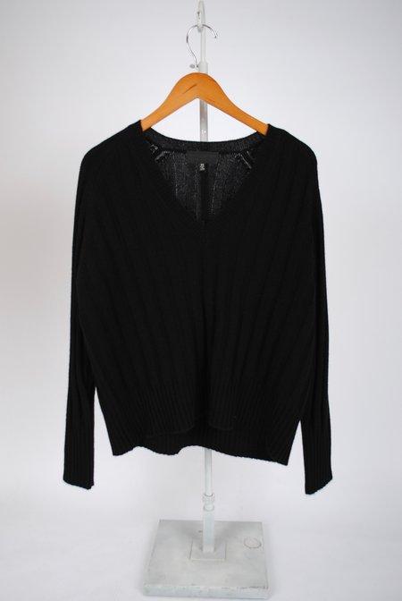Nili Lotan Maddox Cashmere V-Neck Sweater - Black