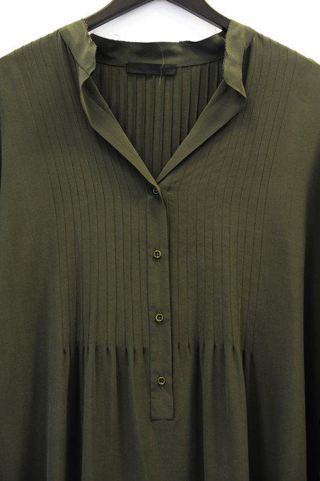 KES Pintuck Shirt Dress - Military