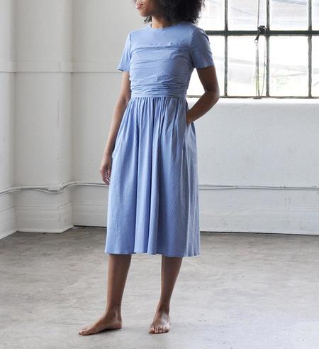 No.6 Annabel Ruched Dress - China Blue