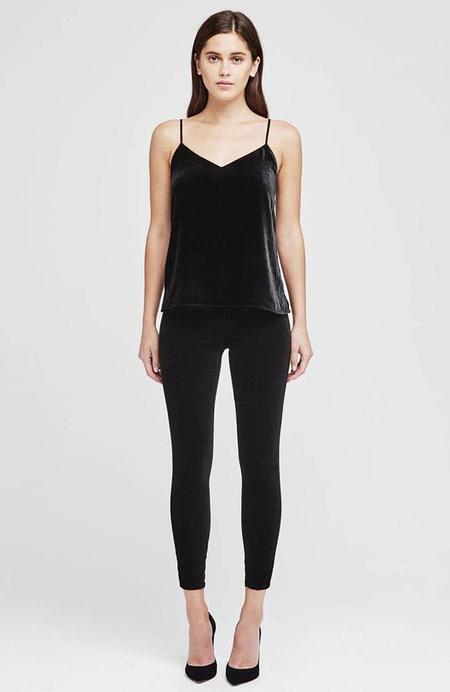 L'agence Margot Velvet Tux Pant - Black