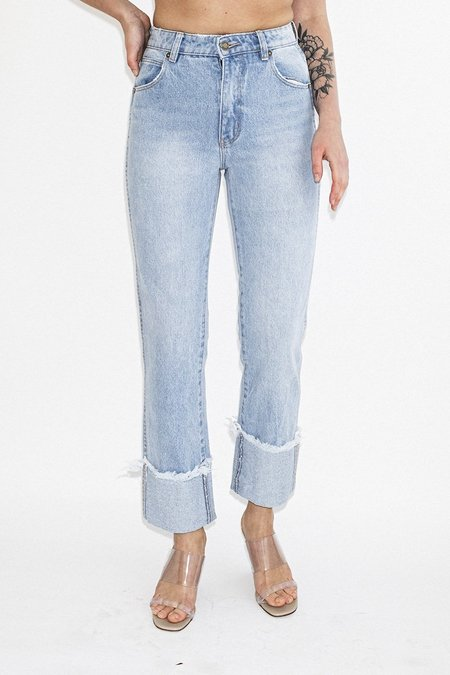 ROLLA'S Original Straight Jeans – Turn Up Worn