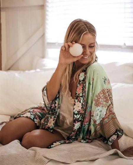 EPretty Eastern Dreams Kimono Robe - Seafoam
