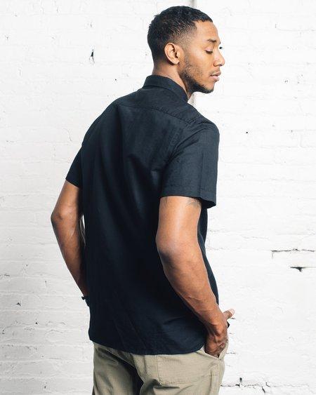 La Paz Castro Shirt - Black Linen