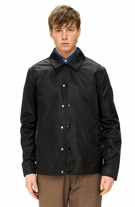 THE VERY WARM Lightweight Flight Coach's Jacket with Lining Art by Jasper Wong - BLACK