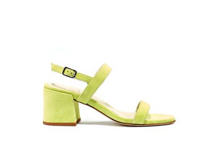 Ouigal Pearl Sandal - Lime Suede
