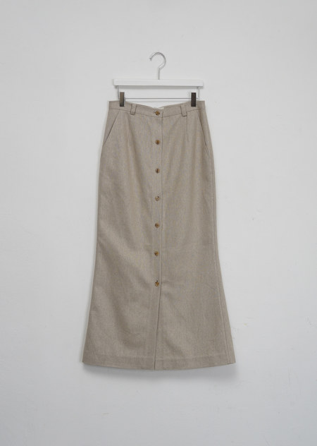 AMOMENTO LINEN BUTTON THROUGH SKIRT