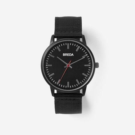 Breda Valor Watch - BLACK