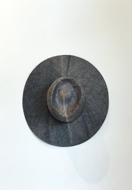 Unisex Reinhard Plank Nana Ramie Straw Hat - BLACK STONEWASH