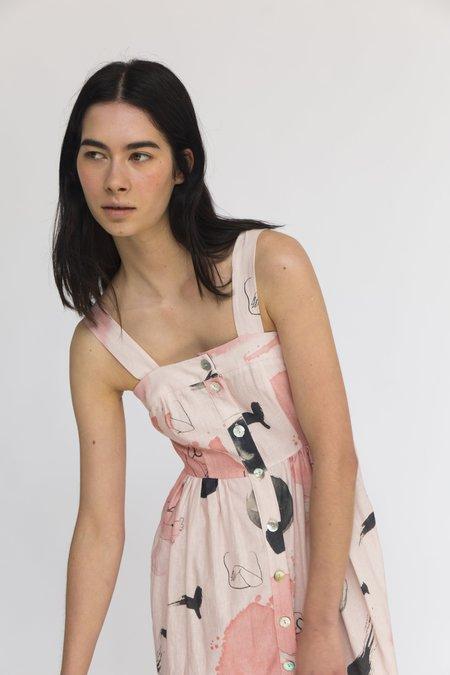 Heinui Sol Dress - Pink Print