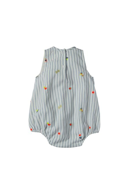 Kids Bonheur Du Jour Baby Stripe Flower Chou Onesie