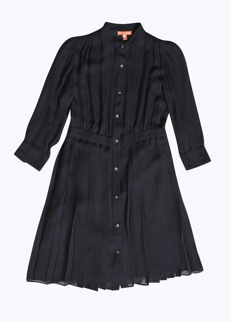Thomas Sires Silk Pleated Dress - BLACK