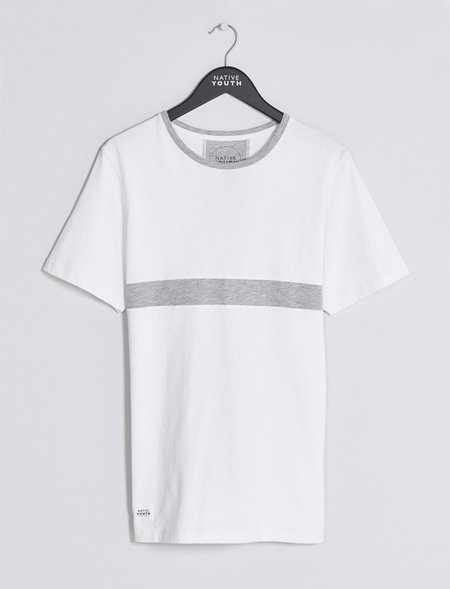 Native Youth Cobb Panel Tee - White