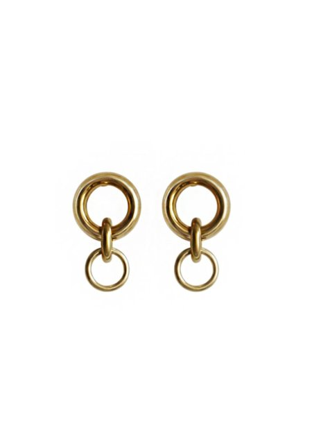 Laura Lombardi Mini Porta Earrings - Brass