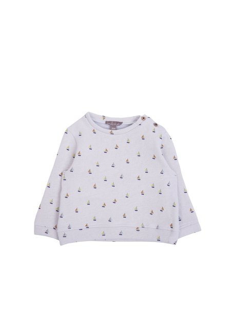 Kids Emile et Ida Gray Sailboat Sweatshirt