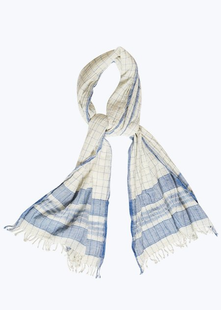 Auntie Oti Scarf - Natural Windowpane