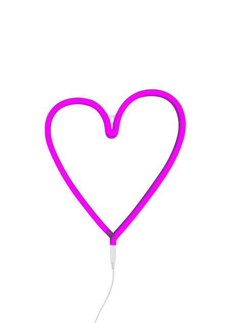 A Little Lovely Company Pink Neon Heart Light