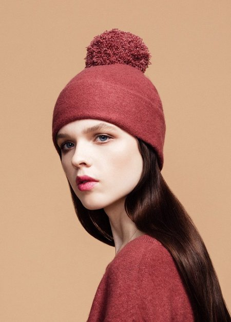 Hansel from Basel Wool Adele Beanie - Terracota