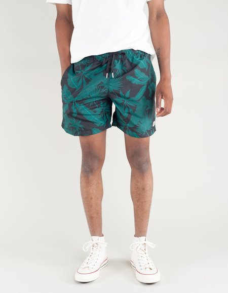 Bather Tropical Palms Swim Trunk - Black