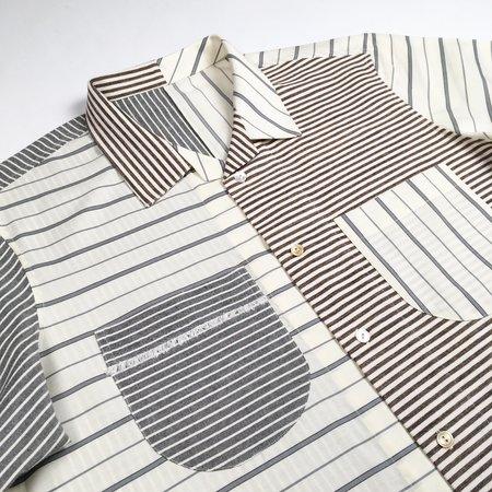Tony Shirtmakers The Multi-Stripe Beach Shirt