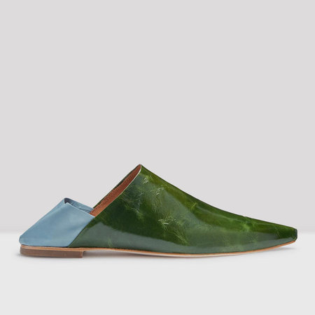 Miista Fernan Babouche - Forest Green/Overcast Blue