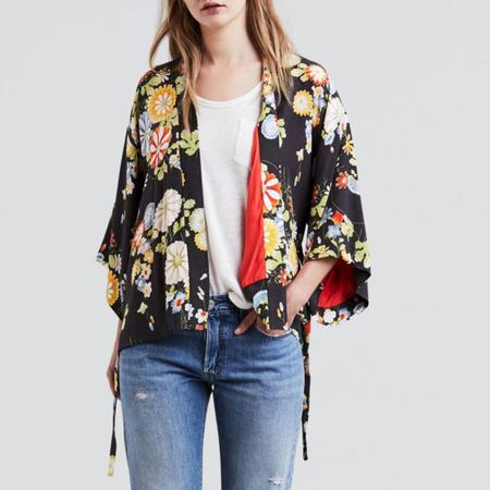 Levi's Premium June Kimono - Ani Obsidian Floral Print