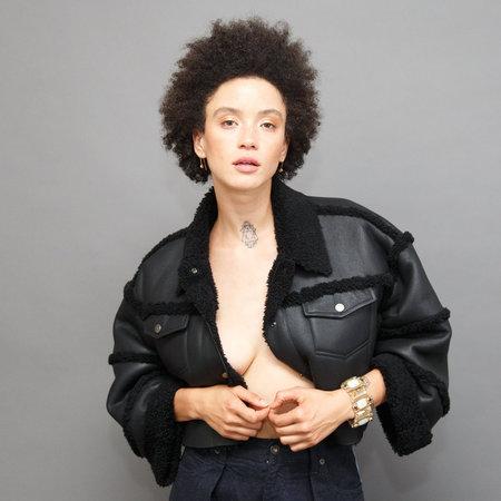 Rachel Comey New Mavis Jacket - Black Shearling