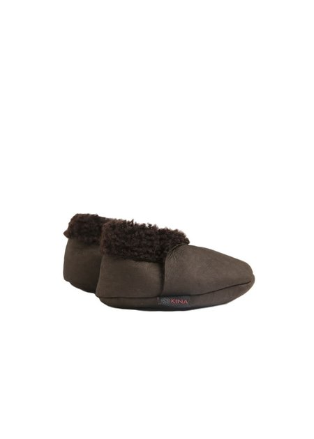 Kids Nui Organics Kina Bootie - Dark Brown
