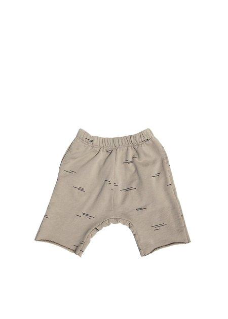 Kids Go Gently Nation Line Athletic Shorts - Eucalyptus