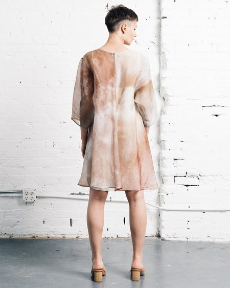 Kaarem Grain Organza Silk Dress - Printed