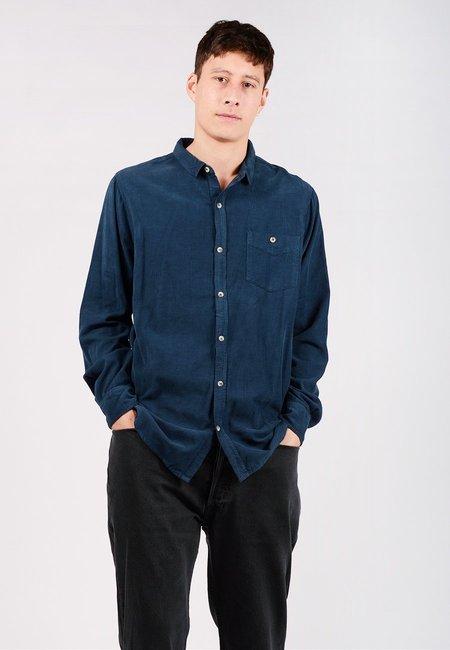 Rollas Men At Work Cord Shirt - Work blue