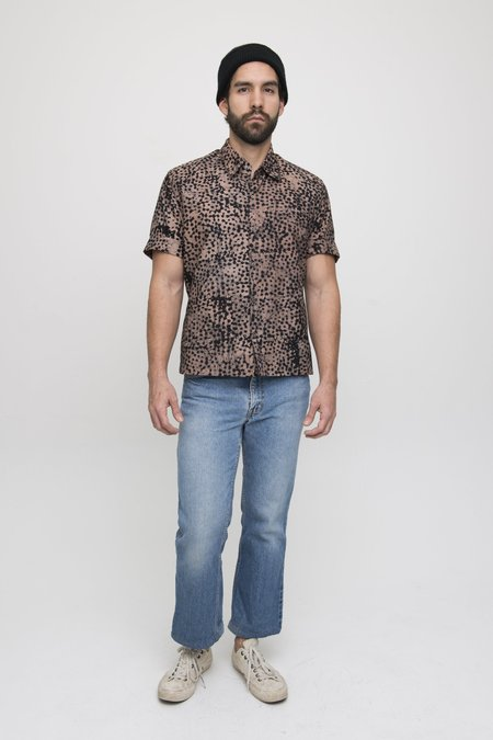Osei-Duro Cotton Button Up Shirt - Snakebite