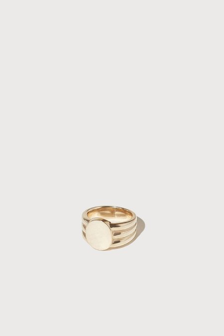 J. Hannah Gold Stacked Signet - 14k yellow gold