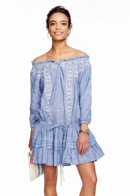 Kopal Bana Embroidered Dress - Blue