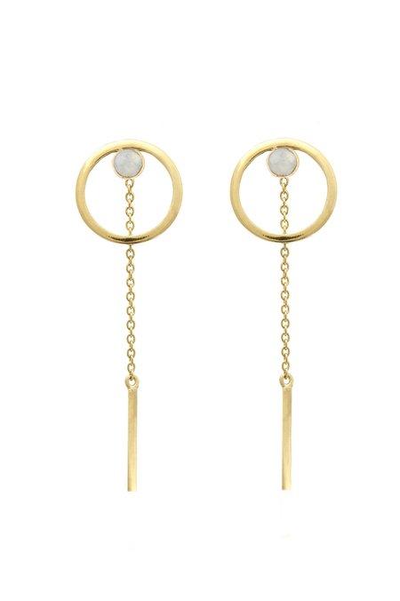 Edge of Ember Luna Earrings - Gold