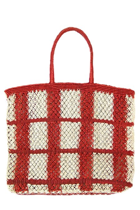 The Jacksons Picnic Tote - RED/NATURAL
