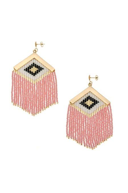 Makua Rombo Embera Earrings - Blush