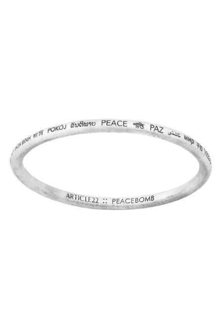 Article 22 Peace All Around Bangle - Sterling Silver
